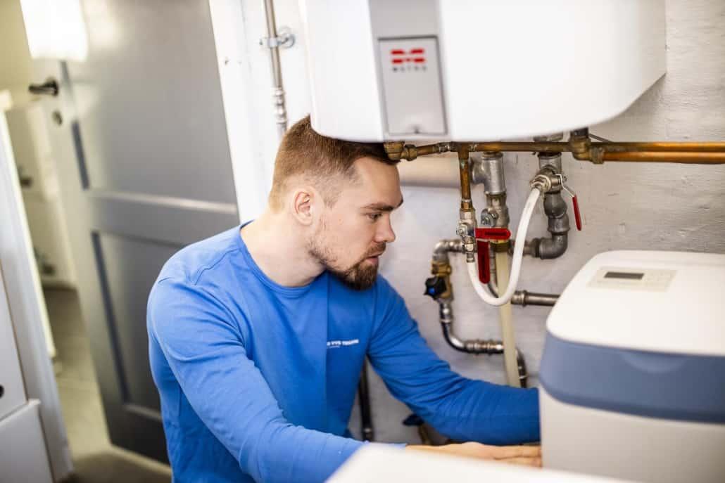 Montering af varmepumpe hos Lund VVS